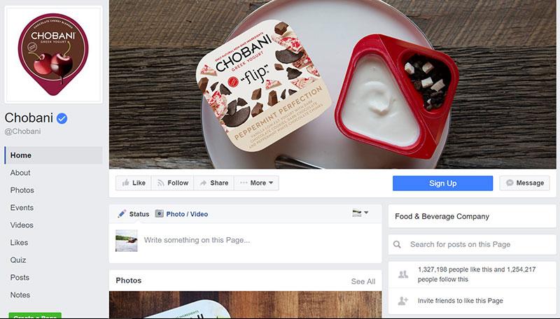 facebook page design update