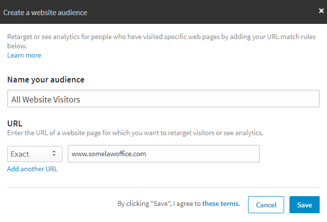 linkedin re-marketing audience